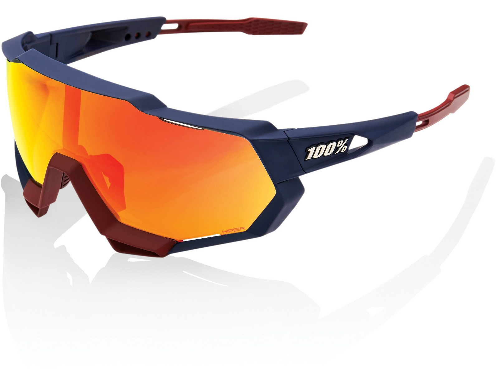 100 Percent Speedtrap Flume with HiPER Red Mirror Lens Sunglasses
