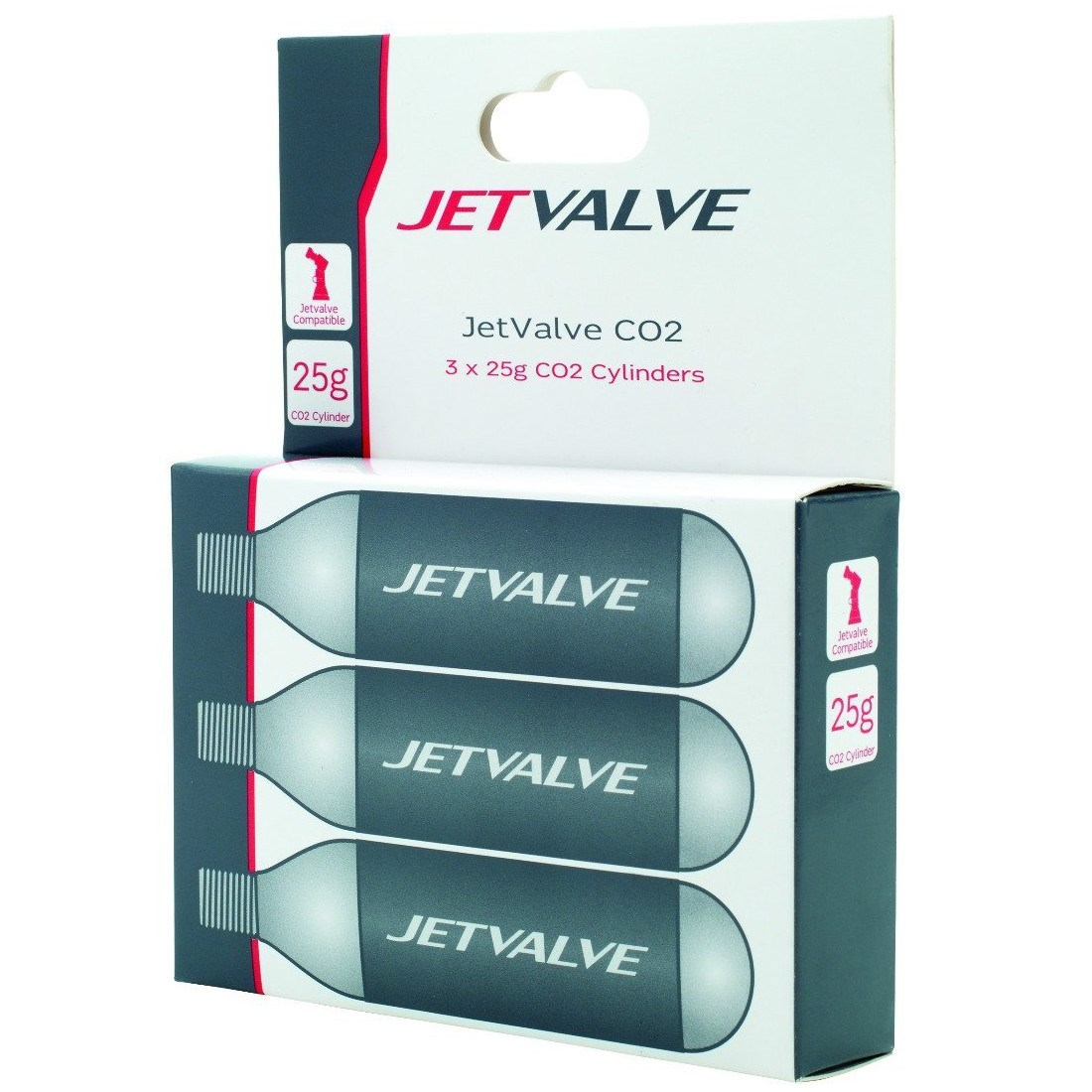 Jetvalve CO2 Refill Pack of 3 25g Cylinders £12 99